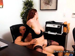 Office banging for busty horny and hot secretary