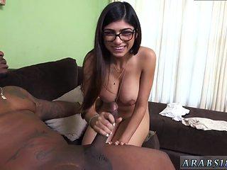 Pregnant Belly Cumshot Mia Khalifa Tries A Big Black Dick