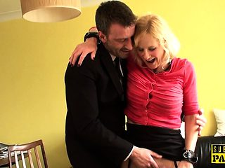 Submissive british mature sucking and fucking