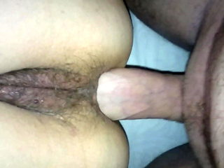 Homemade anal orgasm