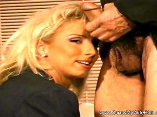 Blonde MILF Swinger Tasted A Strangers Cock And Cumshots In Her Breast