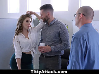 Teamskeet - Busty And Hairy Office Babe Fucked