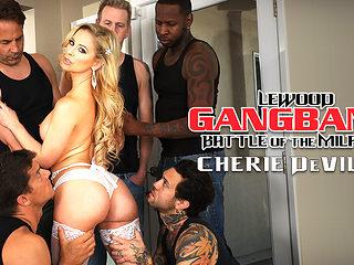 Cherie DeVille & Mark Wood in MILF Stunner Cherie's DP Gang Bang - EvilAngel
