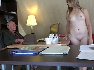 Beautiful Daisy is happy to have a taste of the rock-solid mature cock