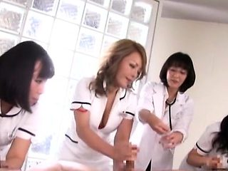 Busty asian nurse loves shlong spinning in her pussy and ass