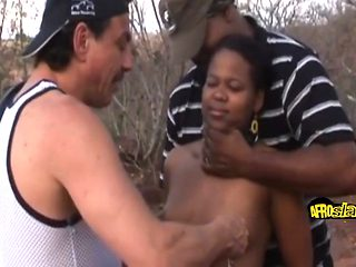 Hot African Girl Banged Outdoors