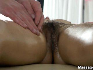Massage and orgasmic eruption