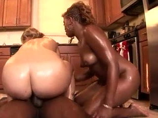 KITCHEN HOES - WHITE GIRL AND HER FRIEND SUCKING AND FUCKING