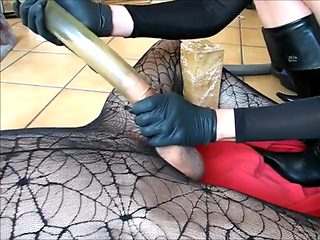 Crazy homemade Femdom, Cumshots adult video