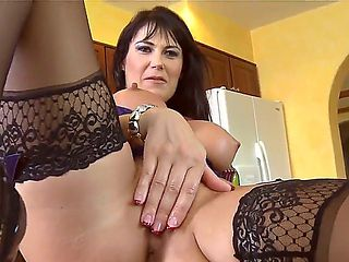 Milf with huge tits Eva Karera gets satisfied by horny male with a big cock