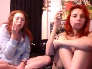 Redhead sisters dildo in pussy