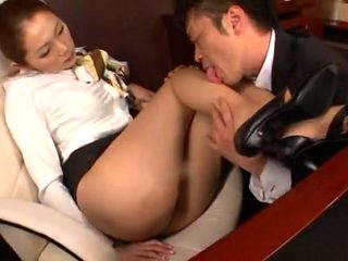 Hottest Japanese girl Asami Ogawa in Amazing Blowjob, Stockings JAV scene