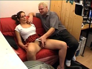 Hot Office Workers Have Lunchtime Fuck