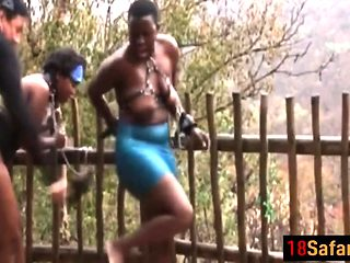 African bitches got tied up for a good cause