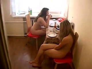 Nudist Lunch my sister and step sister
