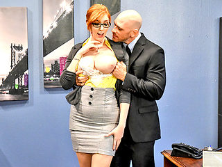 Huge boobs newbie secretary pussy rammed by her horny boss