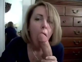Drunk milf blow job