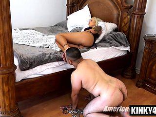 Hot slave domination with cumshot