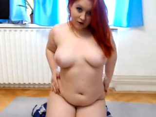 Cute redhead with really nice big tits