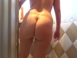 Shower elena big ass  tits  and pussy