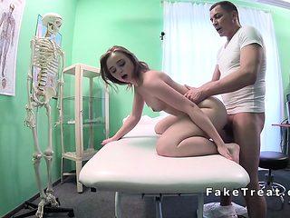 Petite patient bangs big cock doctor