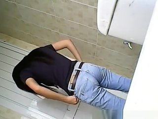 Hidden toilet camera catches asian woman pissing