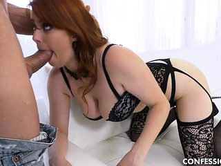 This Natural Redhead Seduces and Fucks Hard