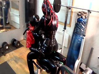 Latex Girls in the Gym