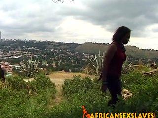 African Slave Girl Gets Flogged
