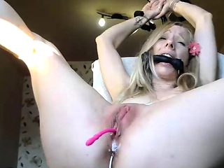 Dirty wam fetish blonde enema squirting and dildo ass toying