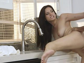 Slutty Alexis Dean Gets Fucked Over The Kitchen Counter