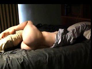 Gorgeous tight wife makes sensual masturbation video