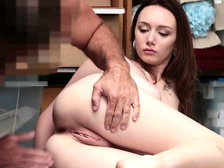 Avery Stones tight pussy fuck from behind