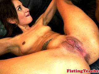 Inked Lesbian Fisted After Queening Dyke Babe