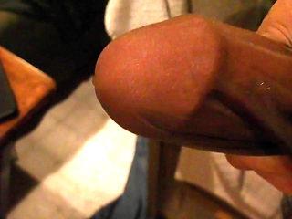 Cum in nylon, nylon cock stroking