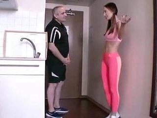 young fit babe with old guy