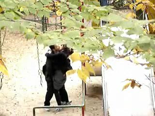 Horny homemade Couple, Outdoor adult scene