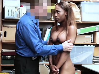 Ebony Teen Sarah Banks Fucked For stealing - LifterSex