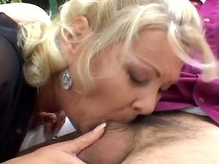 Old Blonde Gets Some Young Cock
