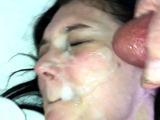 pov homemade amateur girlfriend facial cumshot she loves it