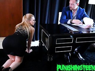 Kinky secretary railed