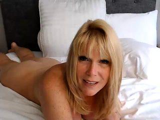 Hot Mature Busty Blonde Cougar Boobs Cummed
