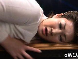 Appealing oriental milf works dick in mind blowing scenes