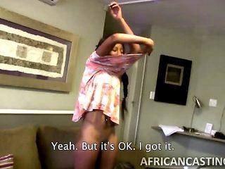 Skinny Ebony Babe Gives Epic Head