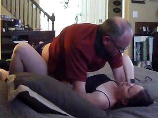 junior woman sucking and fucking old man
