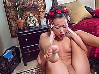 Lil Alina Li Fucks A Big White Cock To Perfection
