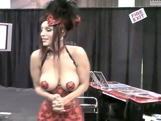 Slut is freezing her tits off
