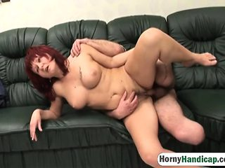 Ginger nurse gets shafted by one legged man