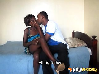 Genuine African Amateur Couple Hardcore Sex Tape