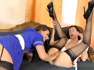 Brit Milf And Les Nurse
